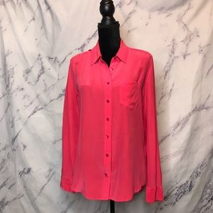 Equipment Femme Pink Coral Signature Collar Shirt